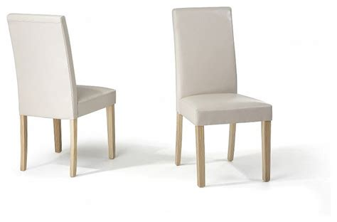 chaise beige salle a manger chaises de salle à manger lot de 2 chaises en cuir