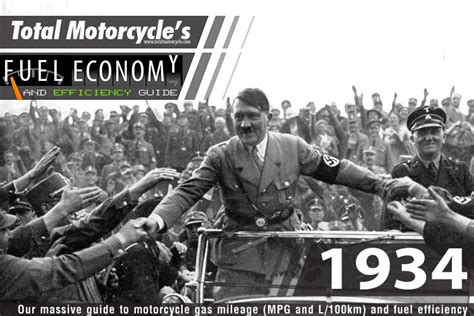1934 Motorcycle Model Fuel Economy Guide In Mpg And L/100km