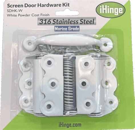 white screen door hardware kit sdhk w shutter