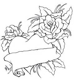Coloring Pages with Hearts and Roses