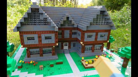 lego minecraft steves house youtube