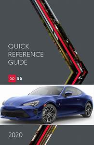 2020 Toyota 86 Quick Reference Guide Free Download Free