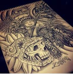 Chicano Aztec Tattoos Warrior