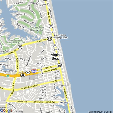 map  virginia beach united states hotels accommodation