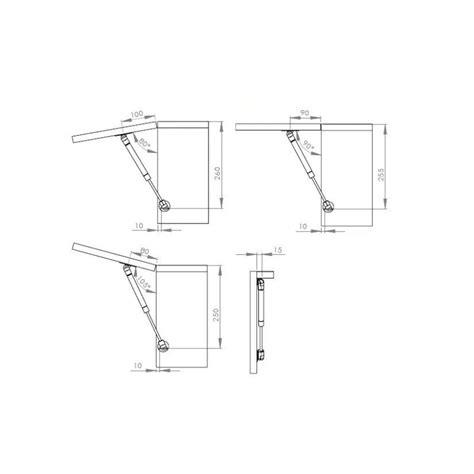 porte de meuble de cuisine vérin pneumatique pour porte relevante de meuble de cuisine