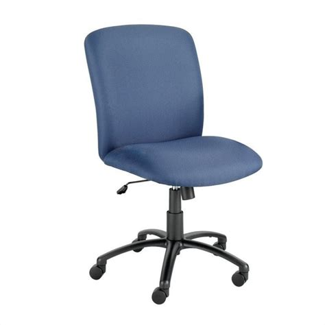 big and high back armless plastic office chair 3490bu