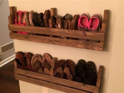 wall shoe rack shoe rack rustic shoe rack pallet shoe rack rustic by