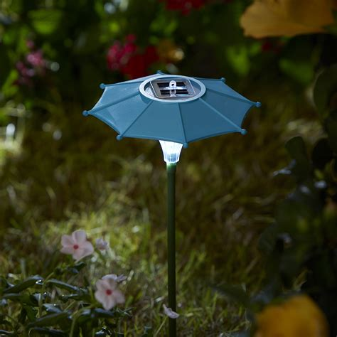 9 quot teal umbrella solar stakes outdoor living outdoor
