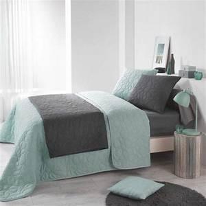 Couvre Lit Vert : couvre lit boutis linge de lit 2 eminza ~ Teatrodelosmanantiales.com Idées de Décoration