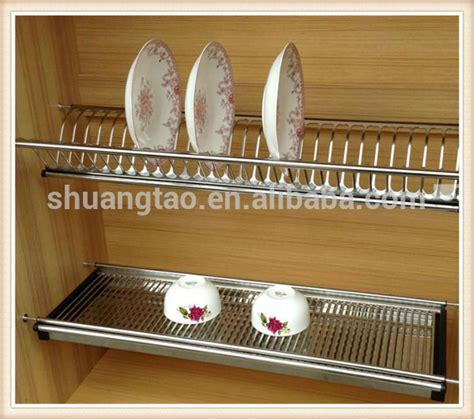Stainless Steel 201kitchen Dish Rack For Kitchen Cabinet
