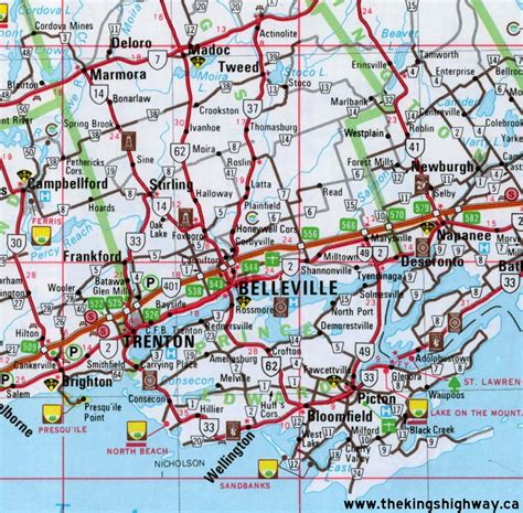 Ontario Highway 14 Route Map  The King's Highways Of Ontario