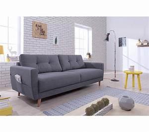 Canapé 3 Places Gris : canap 3 places scandinave tissu gris anthracite stockholm canap s but ~ Teatrodelosmanantiales.com Idées de Décoration