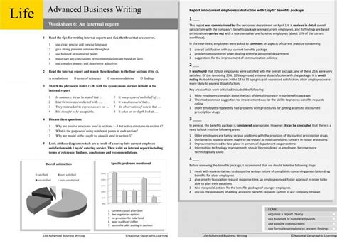business worksheets elementary business writing worksheets ngl