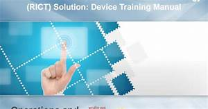 Indiapost Rict Device Training Manual