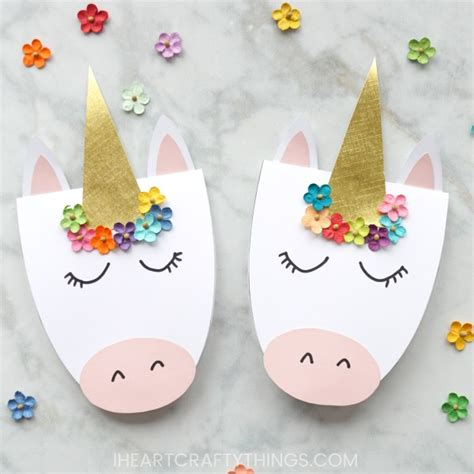 how to a simple diy unicorn card i crafty things