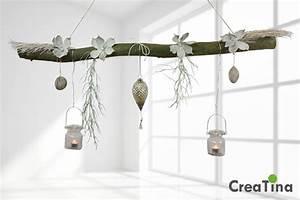 Deko Für Fenster Zum Hängen : creatina ast aus buchenholz zum aufh ngen mit glasornament zapfen 118 cm lang ~ One.caynefoto.club Haus und Dekorationen