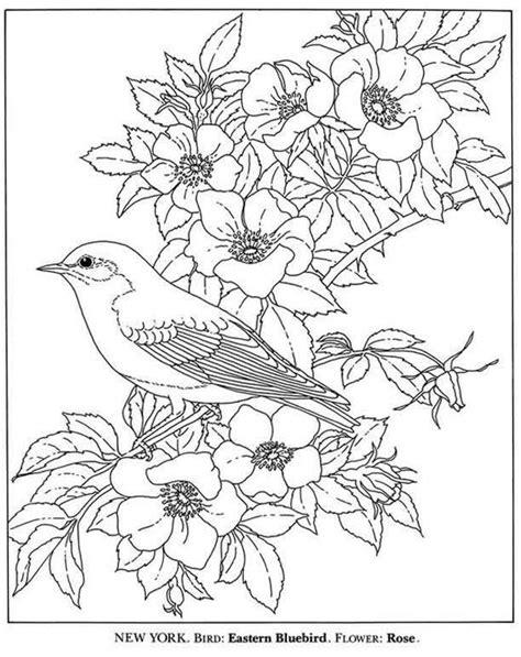 Kleurplaat Spijkers En Verf by Vogel En Bloemen Kleurplaat Kleurplaten Bloem
