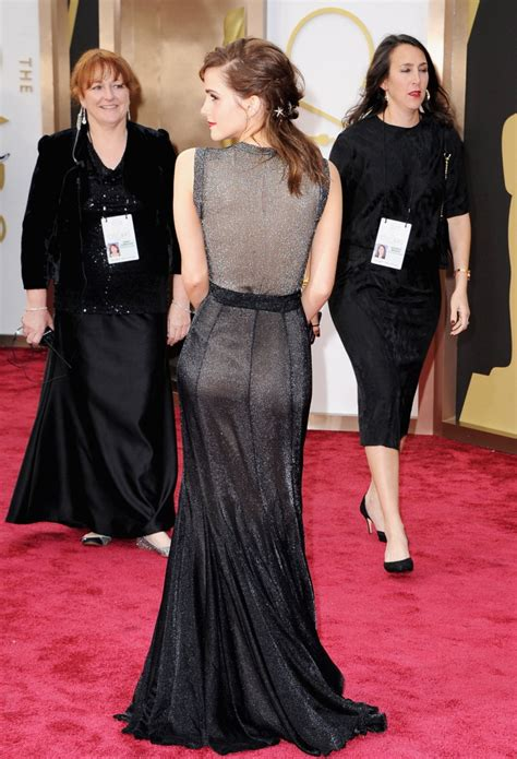 Emma Watson Wearing Vera Wang Dress Oscars