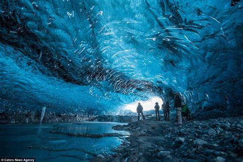 crystal cave icelands glacial lagoon