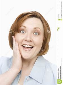 Surprised Woman Over White Royalty Free Stock Images ...