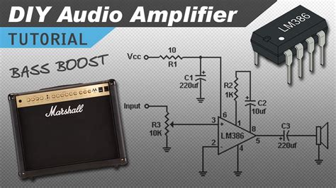 Make Great Sounding Audio Amplifier With Bass