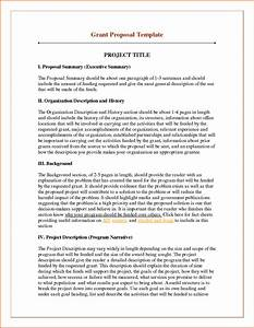 6 sample of funding proposal project project proposal With writing a proposal for funding template