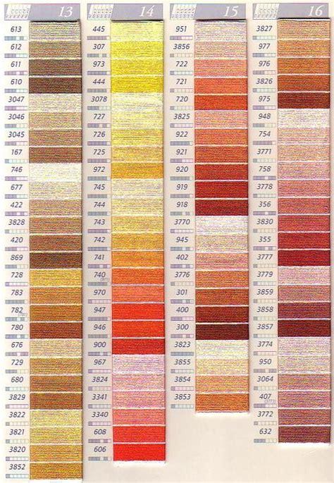dmc thread color chart dmc sc perle colour chart columns 13 16 thread floss