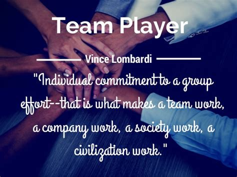 team player individual commitment