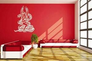 Wandtattoo Auf Rauputz : wandtattoo engel mit schlange kaufen bei ~ Michelbontemps.com Haus und Dekorationen