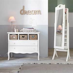 miroir psyche avec rangement blanc h 160 cm valentine With psyche maison du monde