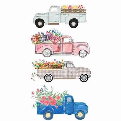 Watercolor Trucks Picsart Stickers Truck Sticker Inspiration