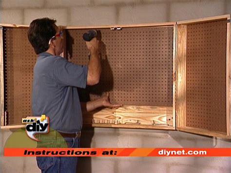 build  pegboard storage cabinet pegboard storage