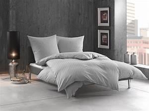 Bettwäsche 200x220 Grau : bettw sche gestreift tira grau bettwaesche mit stil ~ Markanthonyermac.com Haus und Dekorationen