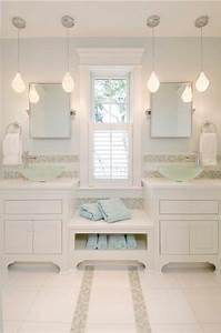 comment choisir le luminaire pour salle de bain With carrelage adhesif salle de bain avec lampe suspendue led