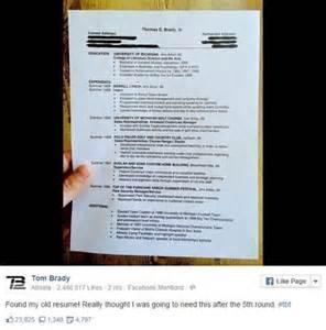 Tom Brady Resume by Tom Brady Does Tbt By College Resume