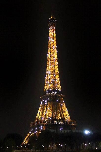Eiffel Tower Paris Tour Night Shine Bright