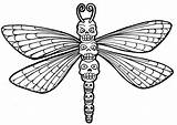 Dragonfly Coloring Pages Skull Printable Sugar Adult Totem Fly Colouring Dragon Drawing Adults Animal Wenchkin Outline Clipart Yucca Flats Sheets sketch template