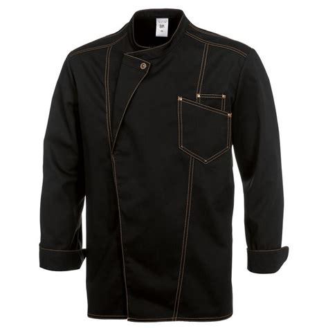 veste de cuisine brod馥 veste chef de cuisine style jean manches longues surpiqûres