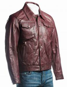Burgundy Men 39 S Denim Style Double Pocket Jacket Hjackets