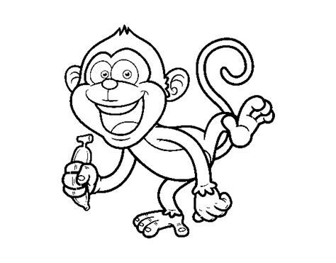 desenho de macaco prego para colorir colorir