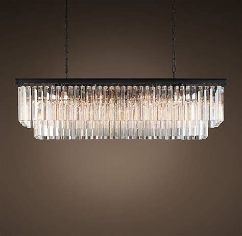 rectangular dining chandelier 1920s odeon clear glass fringe rectangular chandelier 49