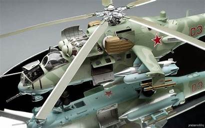 Hind Russian Helicopter Mi Gunship Military Aircraft