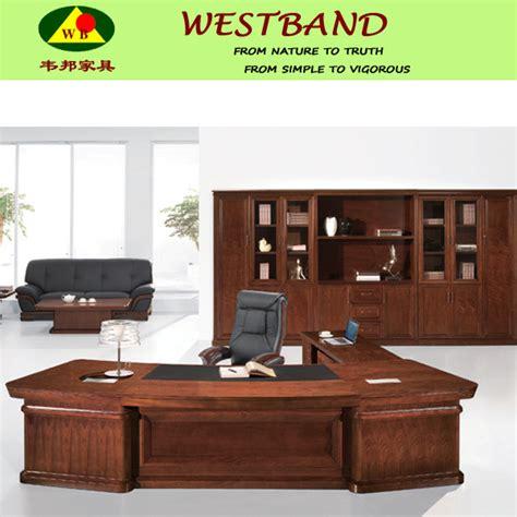 bureau de directeur grand bureau moderne de directeur en bois plein tableau