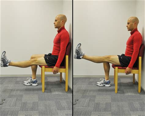 chair leg raises muscles knee exercises live well nhs choices