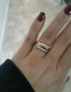 cartier trinity ring as engagement ring With trinity wedding ring