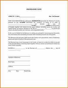 promissory note demand letter docoments ojazlink With promissory note template canada