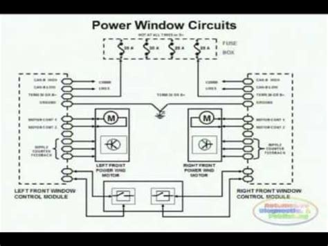 renault koleos 2009 power window wiring diagram 1 youtube