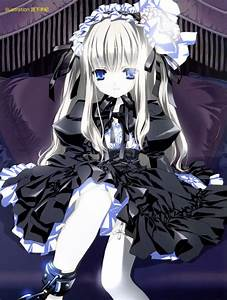 Cute gothic lolita anime girl - Anime Photo (32786227