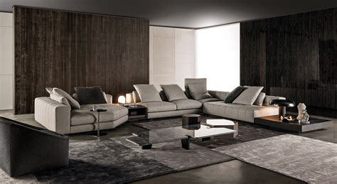 Milano Leather Sofa by Sofa Freeman Seating System By Minotti