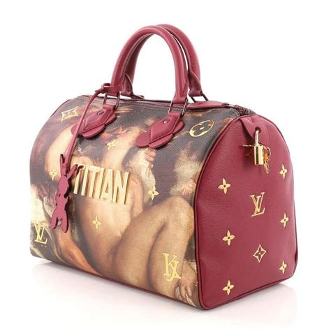 louis vuitton speedy handbag limited edition jeff koons titian print canvas   stdibs